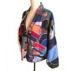 Vintage 80's batik jacket coat